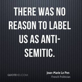 There was no reason to label us as anti-Semitic.
