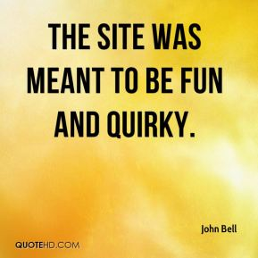 The site was meant to be fun and quirky.
