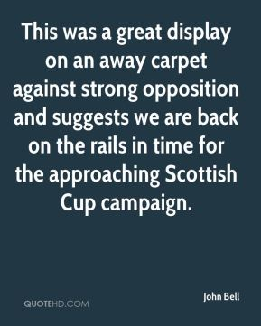 This was a great display on an away carpet against strong opposition and suggests we are back on the rails in time for the approaching Scottish Cup campaign.
