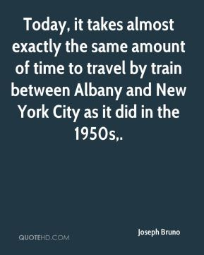 Today, it takes almost exactly the same amount of time to travel by train between Albany and New York City as it did in the 1950s.