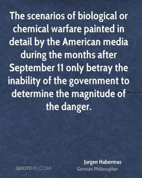 The scenarios of biological or chemical warfare painted in detail by the American media during the months after September 11 only betray the inability of the government to determine the magnitude of the danger.