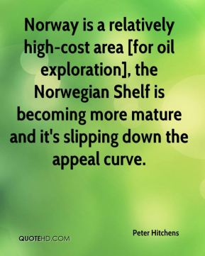 Peter Hitchens  - Norway is a relatively high-cost area [for oil exploration], the Norwegian Shelf is becoming more mature and it's slipping down the appeal curve.