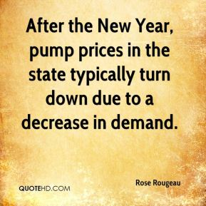 Rose Rougeau  - After the New Year, pump prices in the state typically turn down due to a decrease in demand.