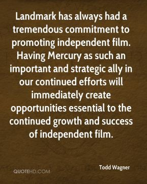 Landmark has always had a tremendous commitment to promoting independent film. Having Mercury as such an important and strategic ally in our continued efforts will immediately create opportunities essential to the continued growth and success of independent film.