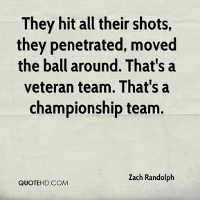 They hit all their shots, they penetrated, moved the ball around. That's a veteran team. That's a championship team.