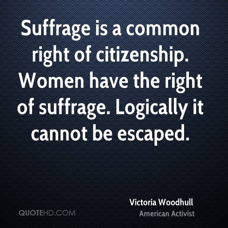 Women's Suffrage Quotes Amusing Victoria Woodhull Quotes  Quotehd