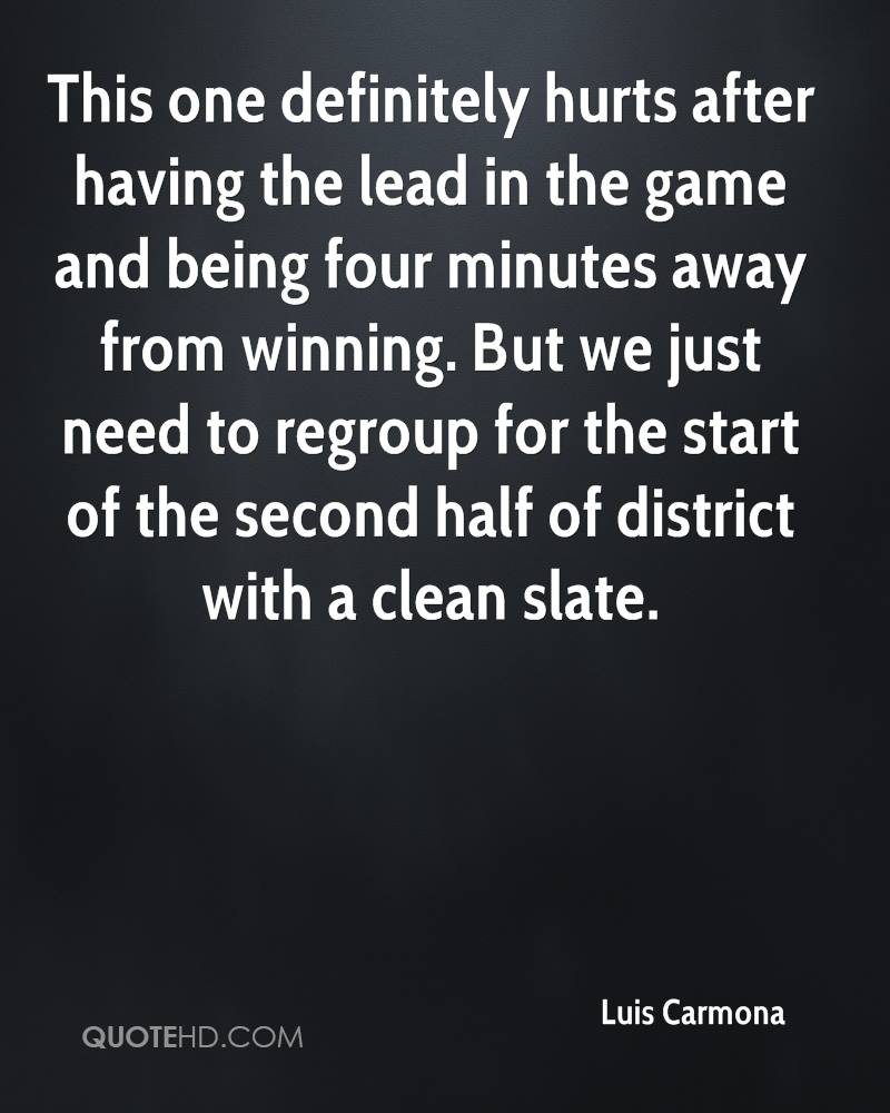 This one definitely hurts after having the lead in the game and being four minutes away from winning. But we just need to regroup for the start of the second half of district with a clean slate.