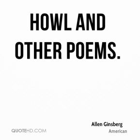 Allen Ginsberg - Howl and Other Poems.