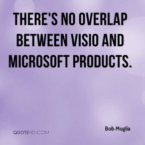 There's no overlap between Visio and Microsoft products.