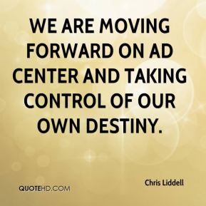 We are moving forward on Ad Center and taking control of our own destiny.