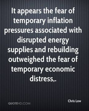 It appears the fear of temporary inflation pressures associated with disrupted energy supplies and rebuilding outweighed the fear of temporary economic distress.