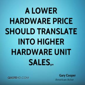 A lower hardware price should translate into higher hardware unit sales.
