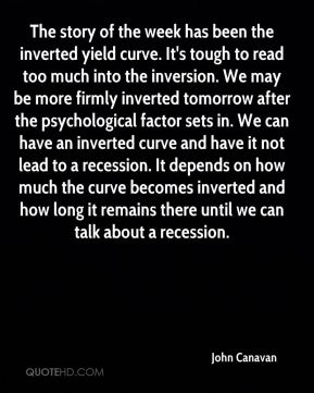 John Canavan  - The story of the week has been the inverted yield curve. It's tough to read too much into the inversion. We may be more firmly inverted tomorrow after the psychological factor sets in. We can have an inverted curve and have it not lead to a recession. It depends on how much the curve becomes inverted and how long it remains there until we can talk about a recession.