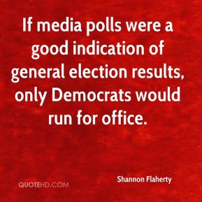 If media polls were a good indication of general election results, only Democrats would run for office.