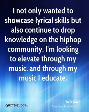 I not only wanted to showcase lyrical skills but also continue to drop knowledge on the hiphop community. I'm looking to elevate through my music, and through my music I educate.