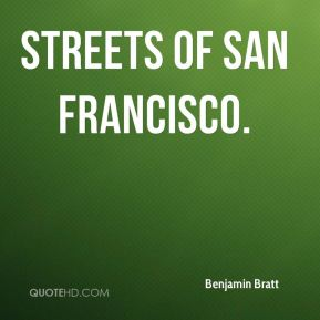 Benjamin Bratt - Streets of San Francisco.