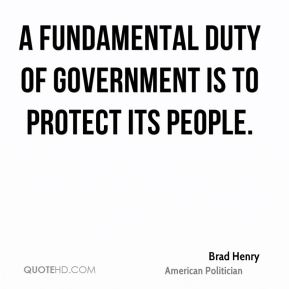 A fundamental duty of government is to protect its people.