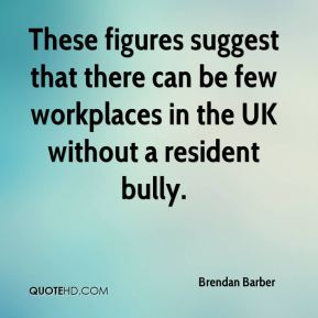 Brendan Barber - These figures suggest that there can be few workplaces in the UK without a resident bully.