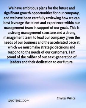 We have ambitious plans for the future and significant growth opportunities for our company, and we have been carefully reviewing how we can best leverage the talent and experience within our management team in support of our goals. This is a strong management structure and a strong management team to lead our company given the needs of our business and the accelerated pace at which we must make strategic decisions and respond to the needs of our customers. I am proud of the caliber of our next-generation of leaders and their dedication to our future.