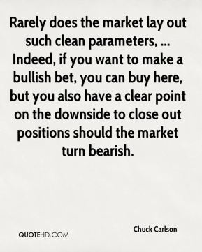 Rarely does the market lay out such clean parameters, ... Indeed, if you want to make a bullish bet, you can buy here, but you also have a clear point on the downside to close out positions should the market turn bearish.
