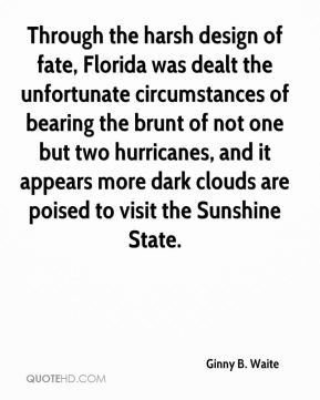 Through the harsh design of fate, Florida was dealt the unfortunate circumstances of bearing the brunt of not one but two hurricanes, and it appears more dark clouds are poised to visit the Sunshine State.