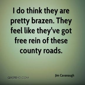 I do think they are pretty brazen. They feel like they've got free rein of these county roads.