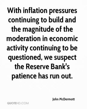 With inflation pressures continuing to build and the magnitude of the moderation in economic activity continuing to be questioned, we suspect the Reserve Bank's patience has run out.