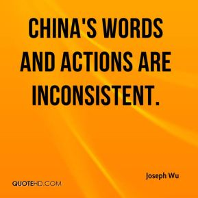 China's words and actions are inconsistent.