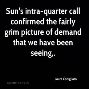 Laura Conigliaro  - Sun's intra-quarter call confirmed the fairly grim picture of demand that we have been seeing.