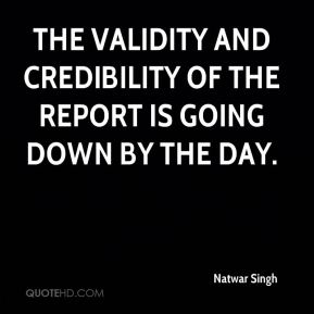 The validity and credibility of the report is going down by the day.