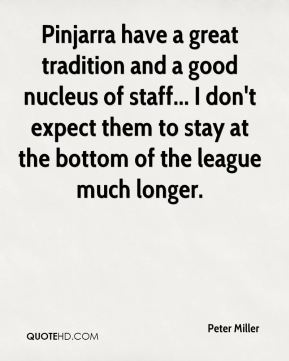 Pinjarra have a great tradition and a good nucleus of staff... I don't expect them to stay at the bottom of the league much longer.