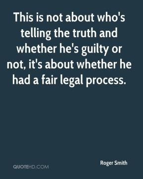 This is not about who's telling the truth and whether he's guilty or not, it's about whether he had a fair legal process.