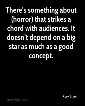There's something about (horror) that strikes a chord with audiences. It doesn't depend on a big star as much as a good concept.