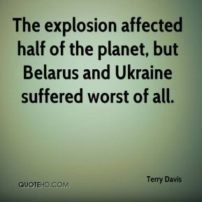 The explosion affected half of the planet, but Belarus and Ukraine suffered worst of all.