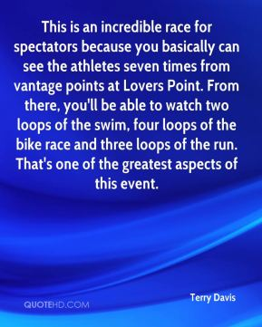 This is an incredible race for spectators because you basically can see the athletes seven times from vantage points at Lovers Point. From there, you'll be able to watch two loops of the swim, four loops of the bike race and three loops of the run. That's one of the greatest aspects of this event.