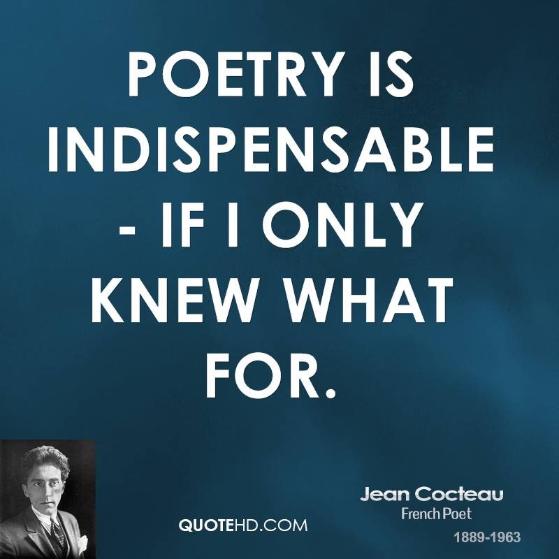 Poem Quotes: Jean Cocteau Poetry Quotes