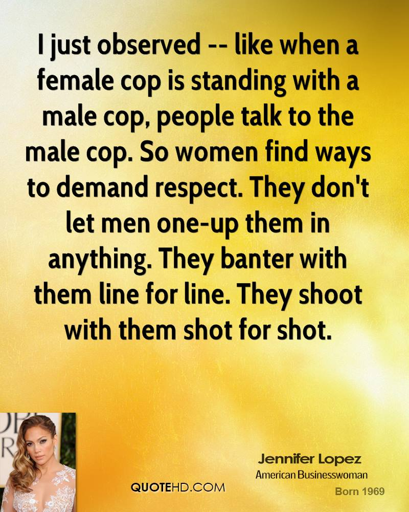 Marvelous I Just Observed    Like When A Female Cop Is Standing With A Male Cop