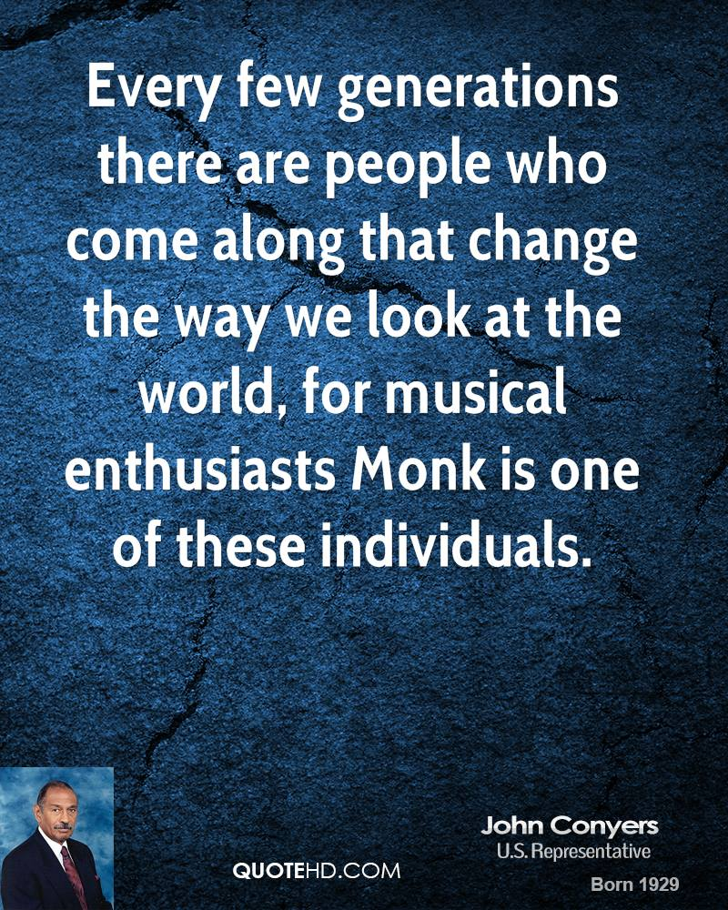 Every few generations there are people who come along that change the way we look at the world, for musical enthusiasts Monk is one of these individuals.