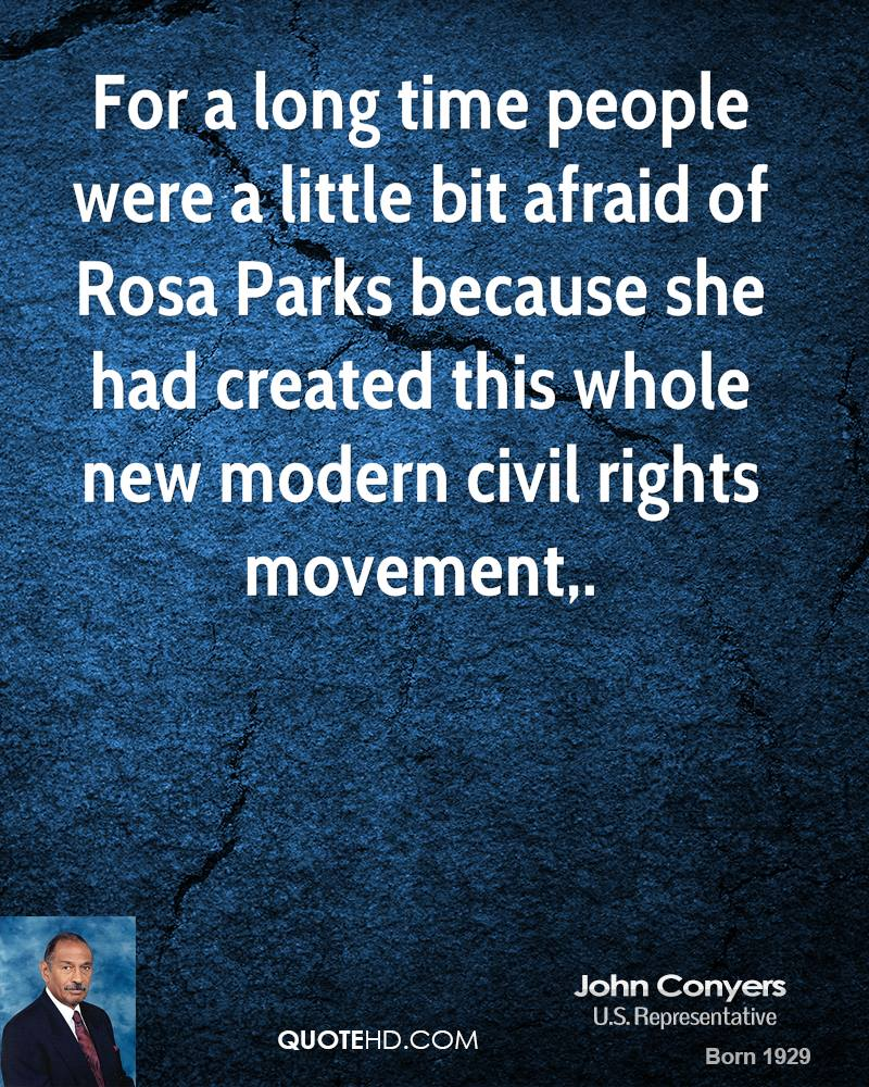 For a long time people were a little bit afraid of Rosa Parks because she had created this whole new modern civil rights movement.
