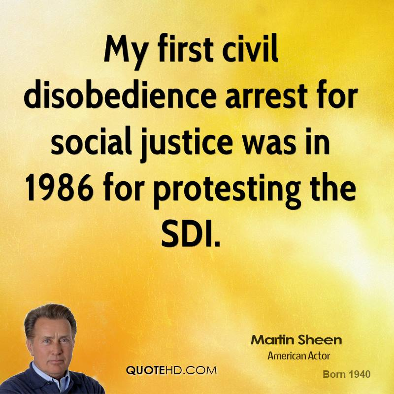 My first civil disobedience arrest for social justice was in 1986 for protesting the SDI.