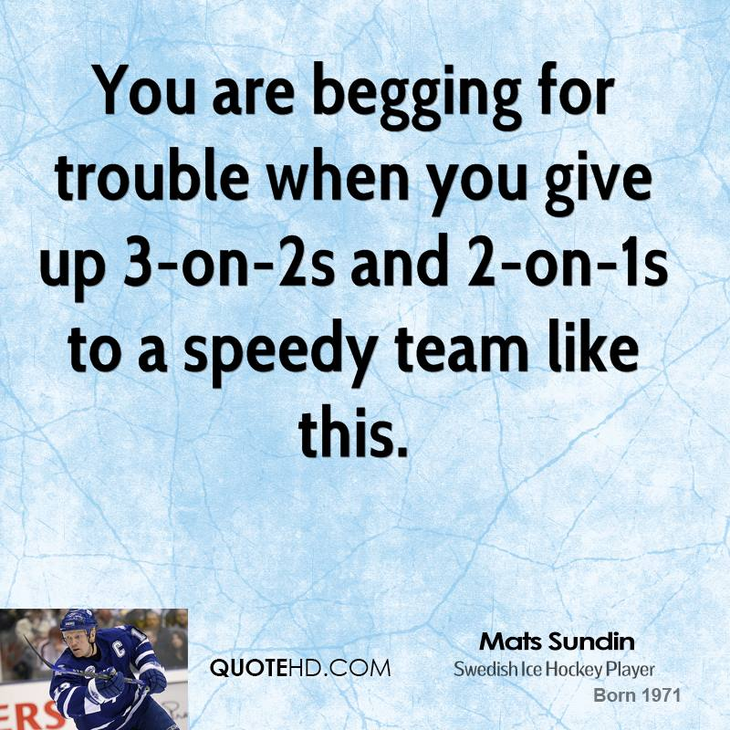 You Gave Up Quotes: Mats Sundin Quotes