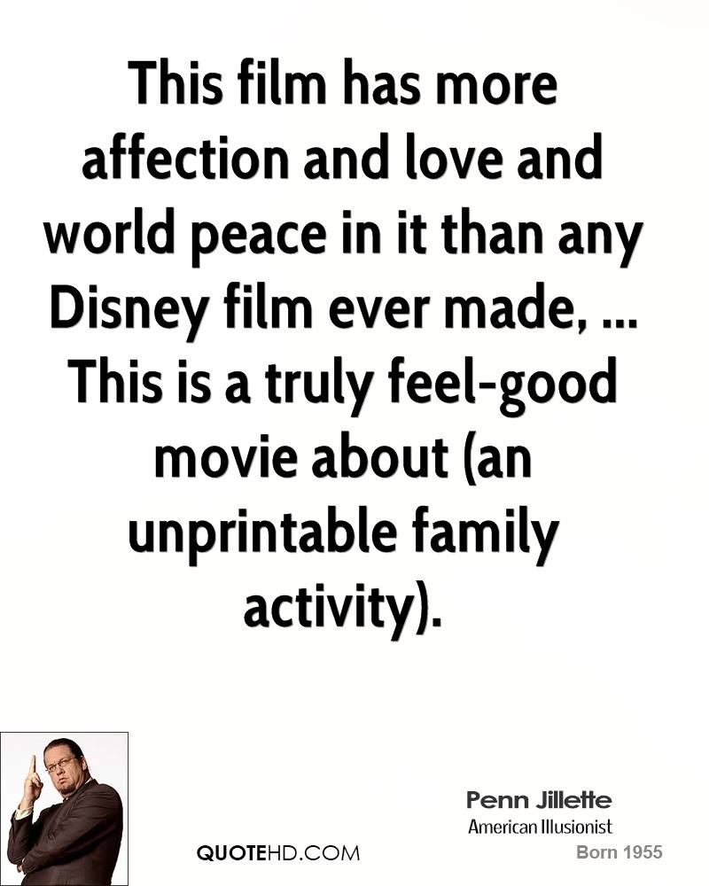 Disney Movie Quotes About Love This film has more affection