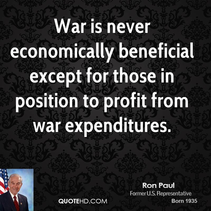 War is never economically beneficial except for those in position to profit from war expenditures.