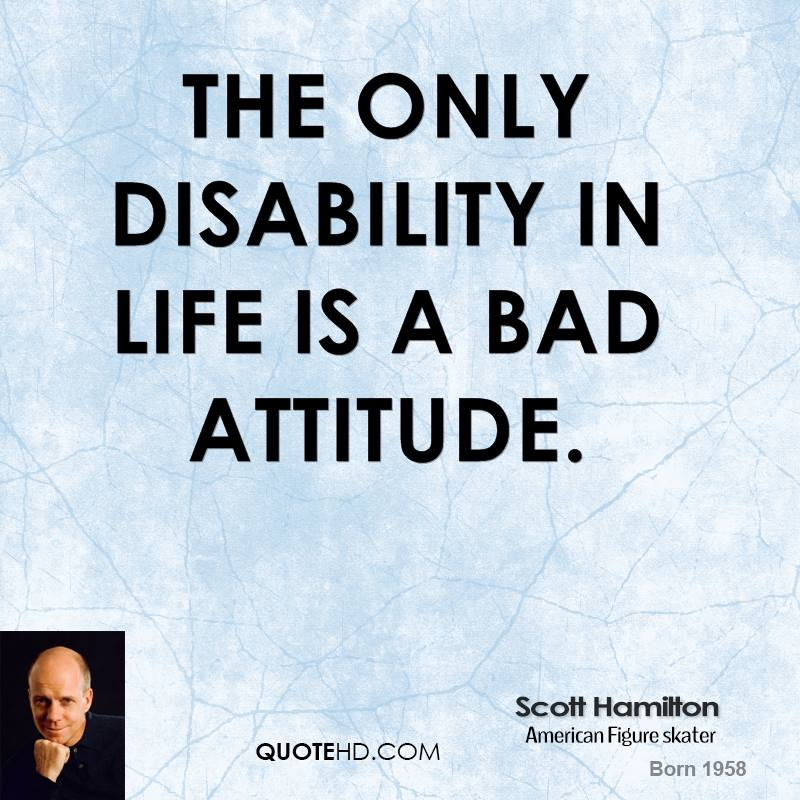 Disability Quotes Mesmerizing Scott Hamilton Life Quotes  Quotehd