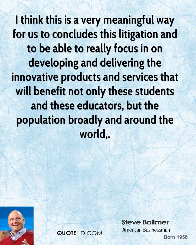 I think this is a very meaningful way for us to concludes this litigation and to be able to really focus in on developing and delivering the innovative products and services that will benefit not only these students and these educators, but the population broadly and around the world.