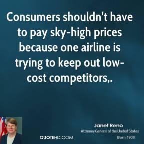 Consumers shouldn't have to pay sky-high prices because one airline is trying to keep out low-cost competitors.