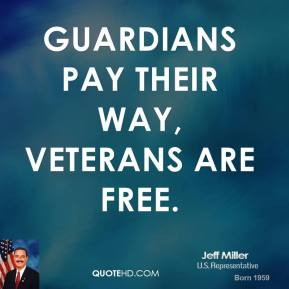 Guardians pay their way, veterans are free.