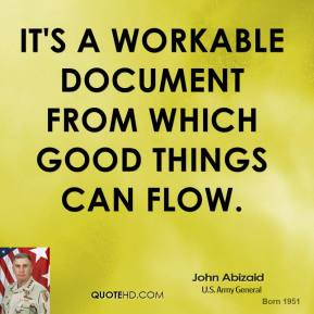 It's a workable document from which good things can flow.