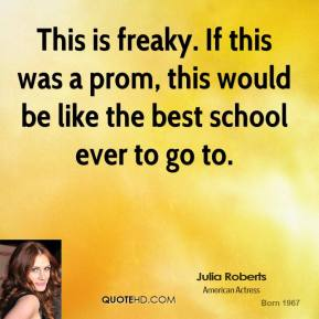 This is freaky. If this was a prom, this would be like the best school ever to go to.