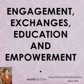 engagement, exchanges, education and empowerment.